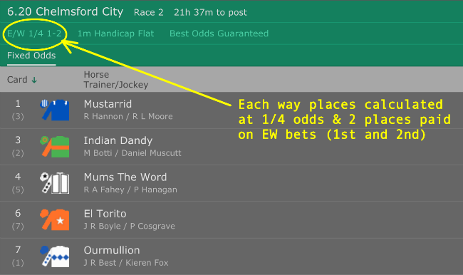 how to work out betting odds manually