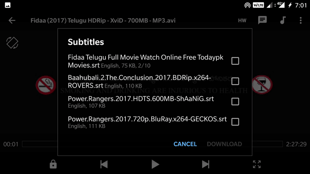 how to manually add subtitles to plex