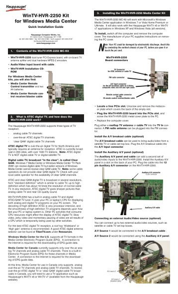 hauppauge lightpath net manuals hvr 1800