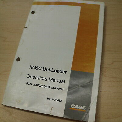 case 1845c skid steer parts manual