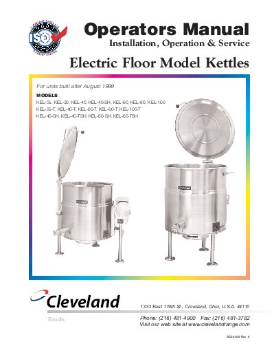 t mkdl-t direct steam mixer kettle manual