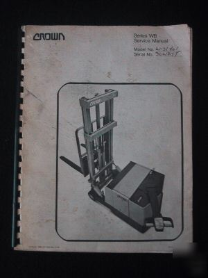 crown walkie stacker m series manual