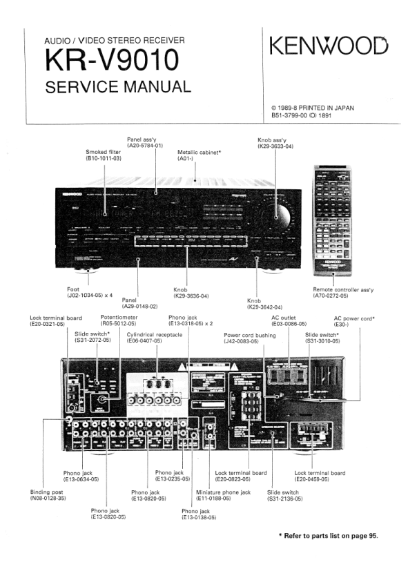 kenwood kr-v9010 service manual