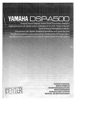 yamaha dsp ax759se user manual